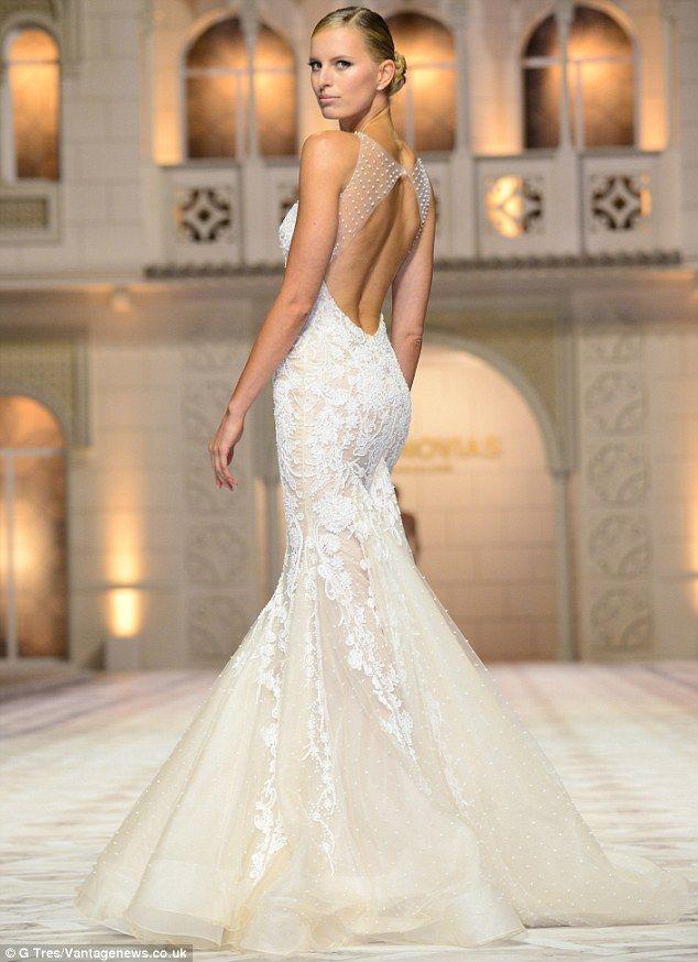 Beautiful Karolina Kurkova u Pronovia us Anniversary bridal fashion show in Barcelona u May