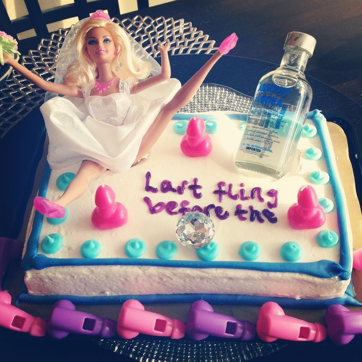 drunk barbie bachelorette cake - Google Search