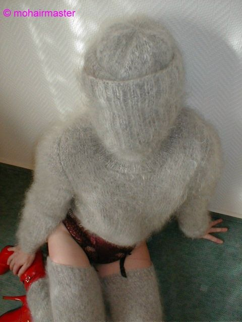 Angora sweater bondage