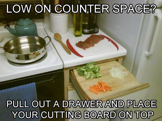 Small apartment/kitchen? Utilize the space you have.