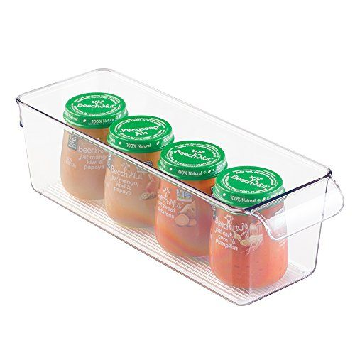 mDesign Baby Food and Formula Bottle Storage Container for Kitchen Pantry Nursery Closet  Clear *** You can get more details by clicking on the image.Note:It is affiliate link to Amazon.