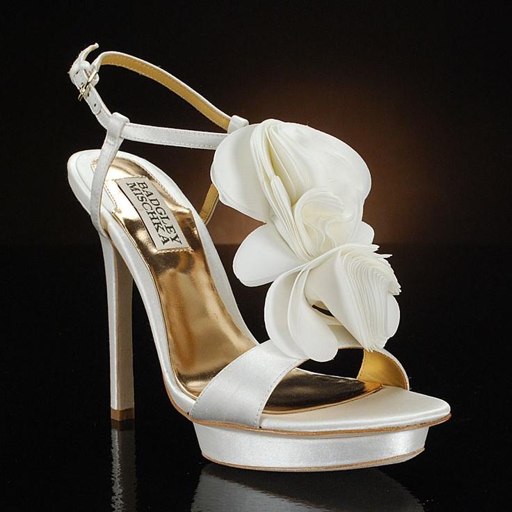 Unique Shop designer Badgley Mischka wedding shoes at My Glass Slipper