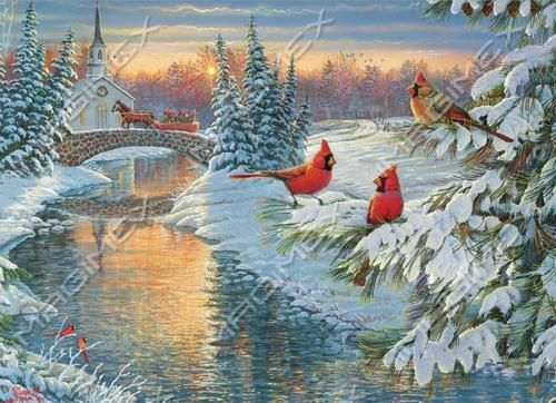 27 best images about art sam timm on pinterest Christmas card scenes to paint