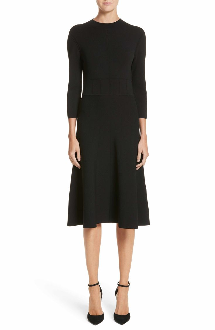 Main Image - Emporio Armani High Neck Fit & Flare Dress