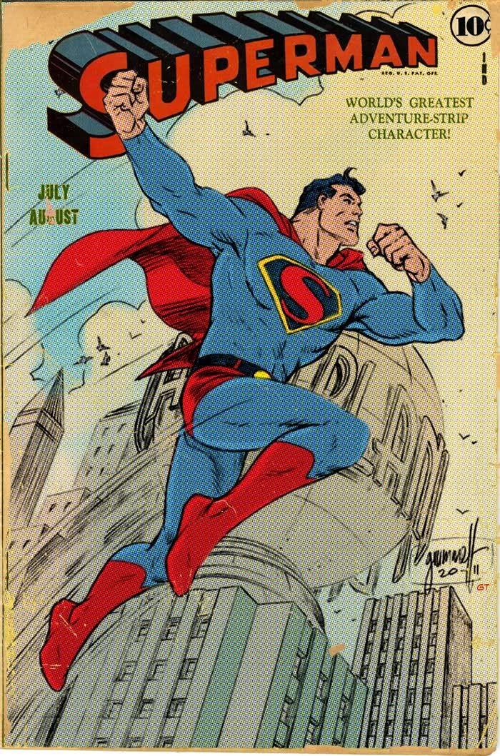 Superman, Art Deco, and Color by ComicBookArtFiend.deviantart.com on @deviantART. Pencils by Tom Grummett