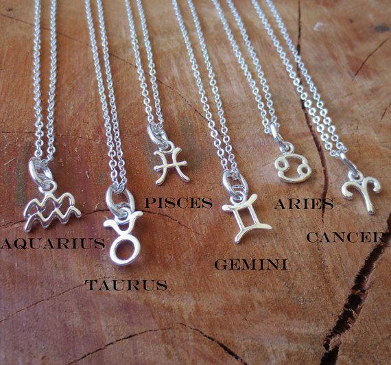 Zodiac Necklace/Constellation by BravuraJewelry925 on Etsy, $13.00