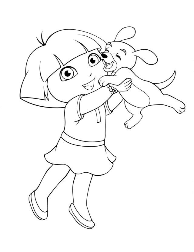 27 Great Picture Of Dora Coloring Page Entitlementtrap Com Puppy Coloring Pages Dora Coloring Animal Coloring Pages