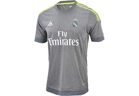 Available at SoccerPro. adidas Kids Real Madrid Away Jersey 2015-16