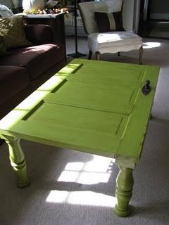 Kinda diggin' this old door turned coffee table
