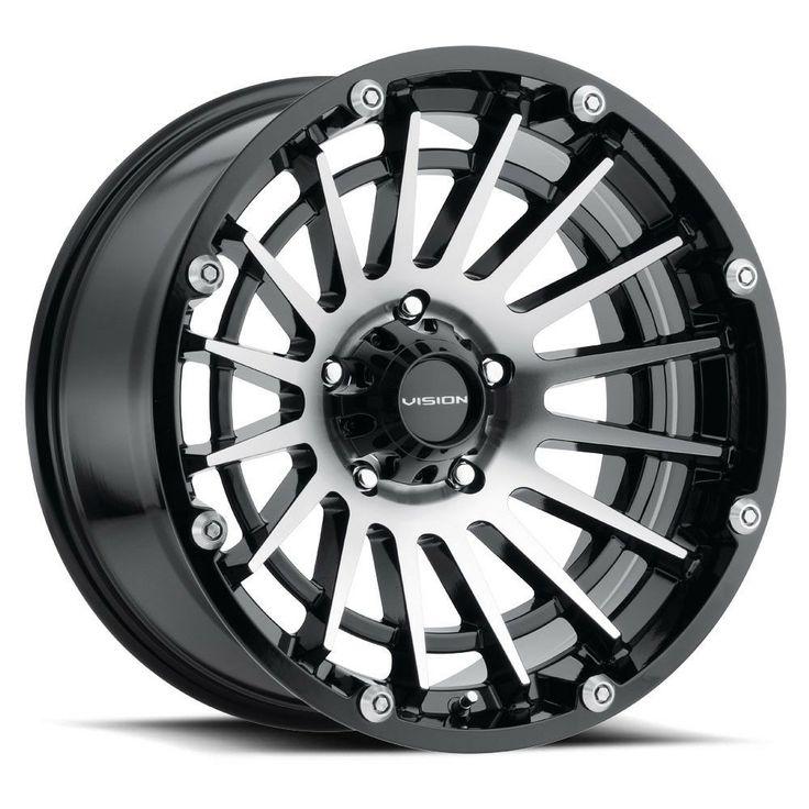 """17"""" Vision 417 Creep Black Machined Wheel 17x9 5x5 12mm"""