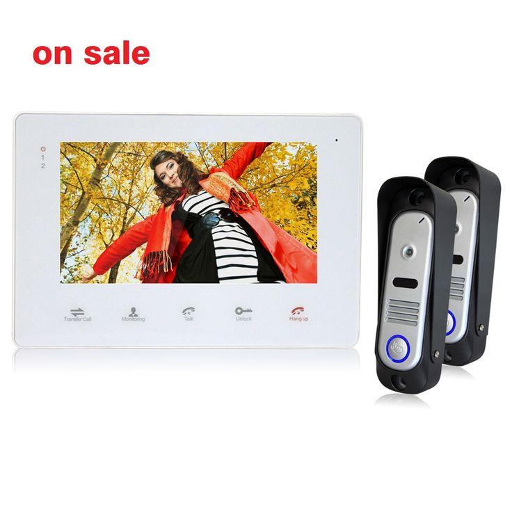 Homefong 7 inch TFT LCD Monitor Color Video Recorder Door Phone Door Bell Intercom System 800TVL