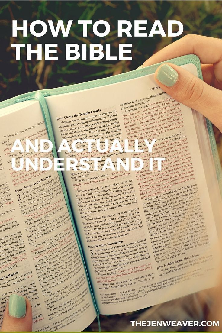 Quick and easy steps on how to read the Bible. So helpful!