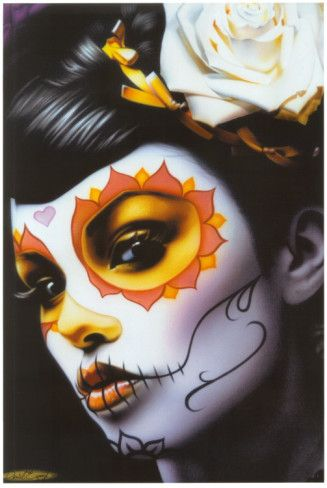 ✿ Victoria ~ By: Daniel Esparza ✿: Canvas Prints, Halloween Costumes, Body Paintings, Canvas Art, Sugar Skull, Of The, Daniel Esparza, Dead, Day