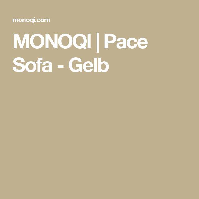 MONOQI   Pace Sofa - Gelb