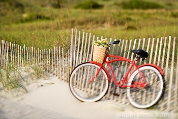 bike on beach