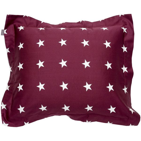 Gant Allover Star Pillowcase - Purple Fig (£25) ❤ liked on Polyvore featuring home, bed & bath, bedding, bed sheets, purple, stars and stripes bedding, purple bed linen, purple bedding, egyptian cotton bedding and egyptian cotton pillow cases