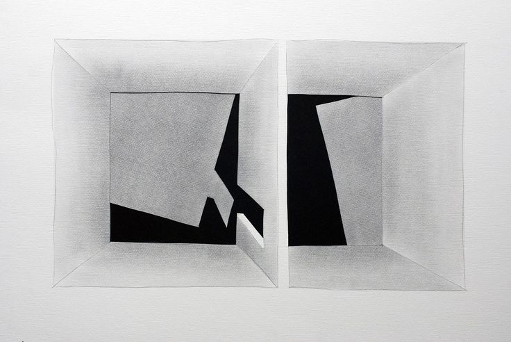 Untitled 010 by Zbigniew Taszycki, drawing – graphite, scalpel, photo: promo materials
