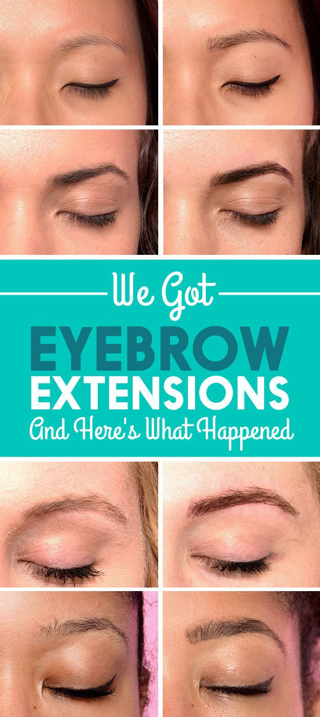 We Got Eyebrow Extensions And Here's What Happened