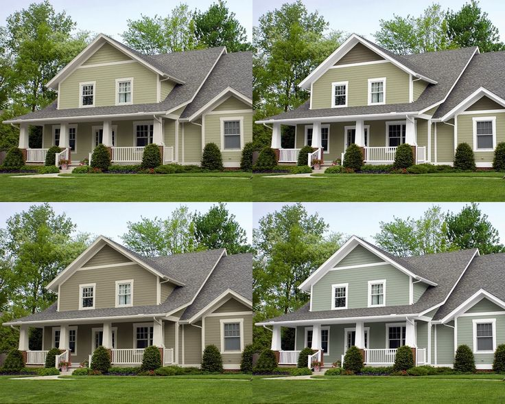I like the bottom right oyster bay by sherwin williams - Sherwin williams exterior colors ...