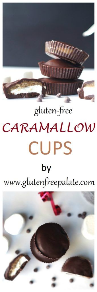 Move over peanut butter cups, there's a new hand held dessert on the menu. These Gluten-Free Caramallow Cups are filled with fluffy marshmallows, a buttery caramel layer, and covered in dark chocolate.