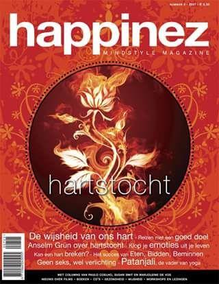 Happinez 2007 - 5. Hartstocht. In dit nummer lees je alles over Hartstocht: Patanjali, de vader van yoga - het succes van Eten, Bidden, Beminnen - Anselm Grün over hartstocht.