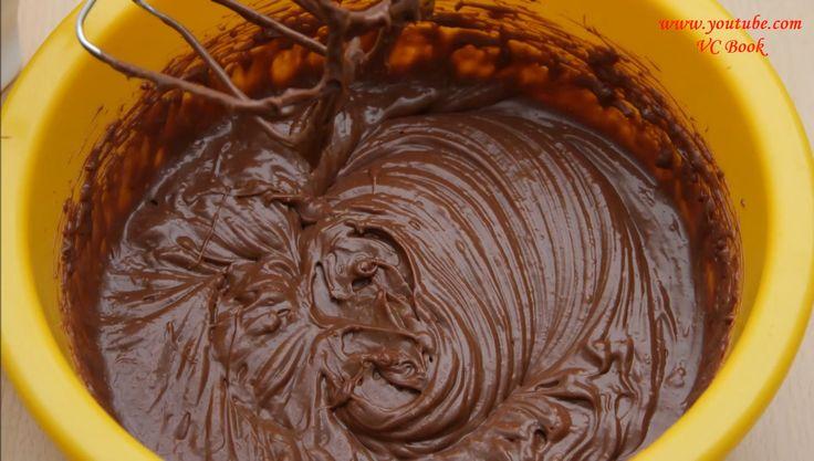 Шоколадный крем для тортов со сгущенкой за 5 минут   Крем под МАСТИКУ - YouTube
