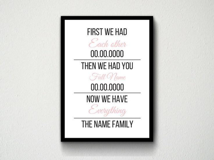 Digital Download Girl or Boy Baby Babies Kids Children Typography Wall Art Print First We Had Each other Then We Had You Now Have Everything by DesignsByMoniqueAU on Etsy