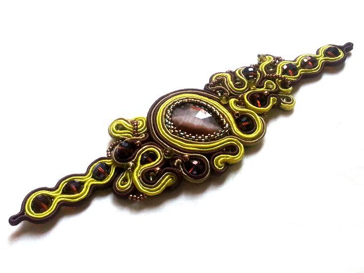 Bracciale in soutache. Soutache bracelet. www.annodarte2013.blogspot.it