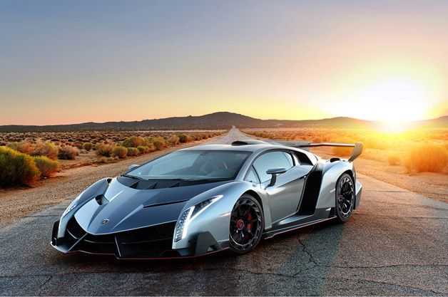 What do you do with a $4 million exotic, a lone desert road and a spectacular sunset? You shoot an incredible photo gallery, of course..