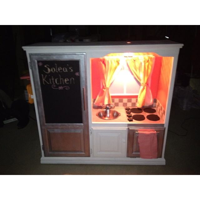 Entertainment Center Kitchen I Made For My Niece Oh Baby Pinterest Ovens Plays And
