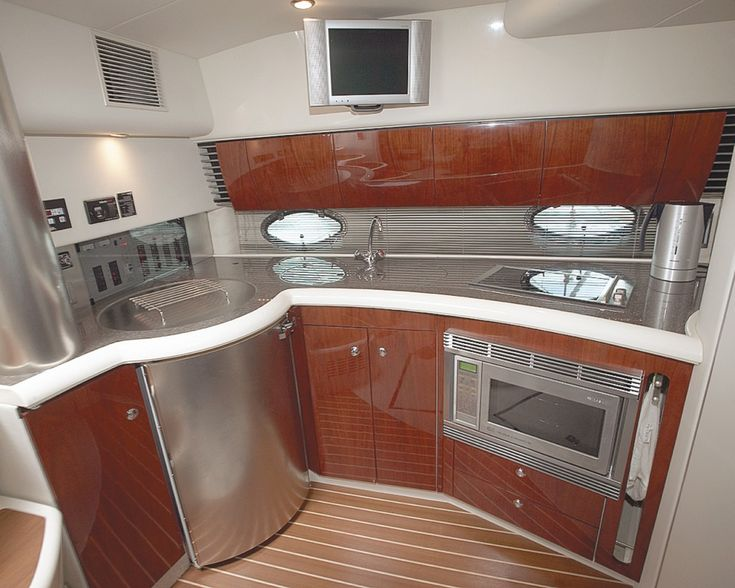 Modern Boat Galley. I Would Love It If An Interior Designer Would Redesign  Our Boat