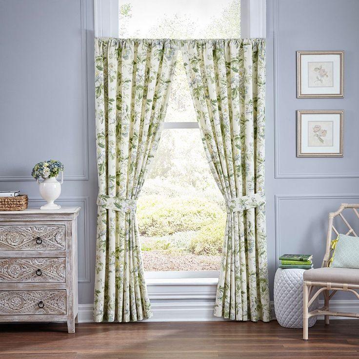 Waverly 2-pack Fleuretta Curtain, Green