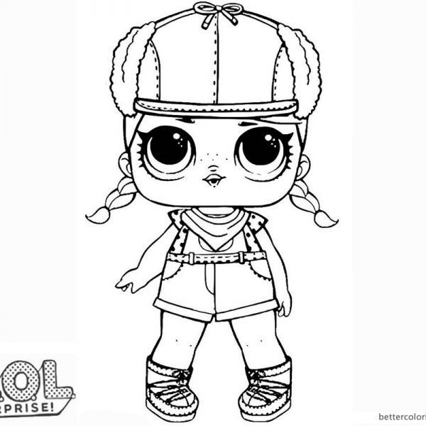 Lol Surprise Doll Coloring Pages Brrr B B With Images Free