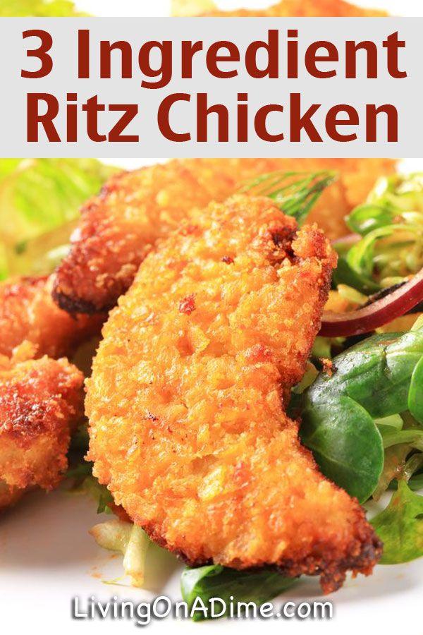 Easy 3 Ingredient Ritz Baked Chicken Recipe - Easy 3 Ingredient Dinner Recipes