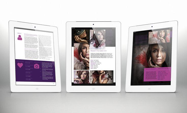 3x Tablet Portfolio Templates Bundle for Indesign