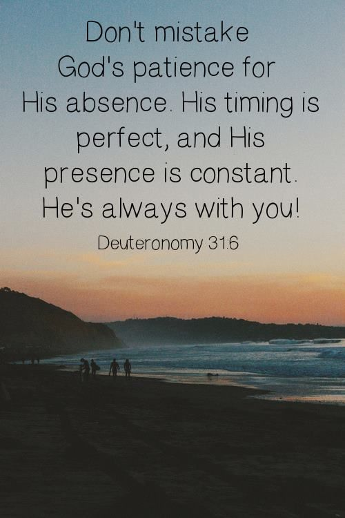 ".Jesus said He would never leave us nor forsake us. Trust in His word that He will always be there even when it seems you are alone. He is an ever present help. He is truly is the one ""constant"" in our lives."