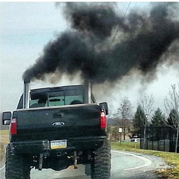 how to make black smoke come out of diesel truck