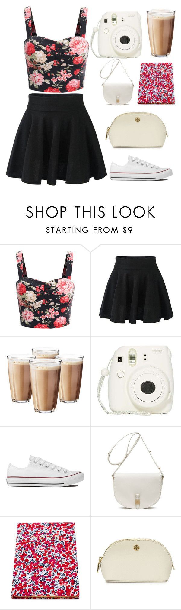 """""""Summer"""" by queenlateen ❤ liked on Polyvore featuring Rosendahl, Converse, Mulberry, Flowers of Liberty and Tory Burch"""