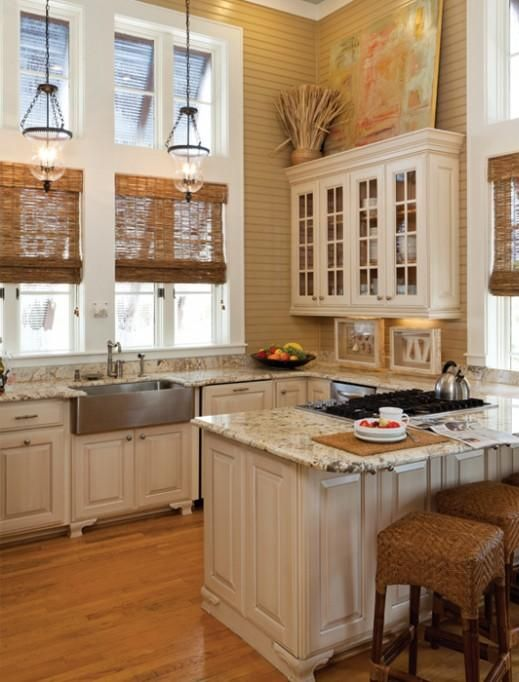 Love the ceiling height and tall windows!