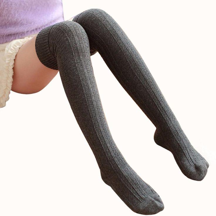 Autumn Women's Long Socks Female stockings Thigh Highs Socks For Women Winter Lady warm knee High socks medias calcetines altos #Affiliate