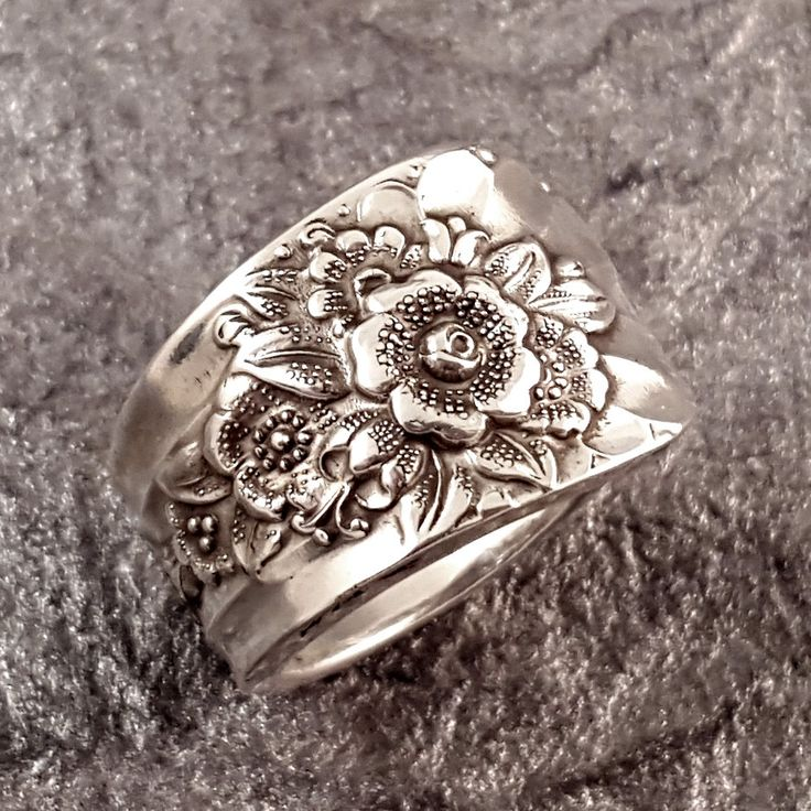 Vintage Silver Plate Spoon Ring. This ring was made from a vintage silver plate spoon in the Jubilee pattern. Very pretty! This ring can be made in size 4 through 10.5. Possibly smaller or larger upon