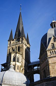 Aachen Cathedral Tower.