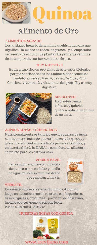 ¿Qué propiedades tiene la #quinoa ? Infografía y recetas con quinoa