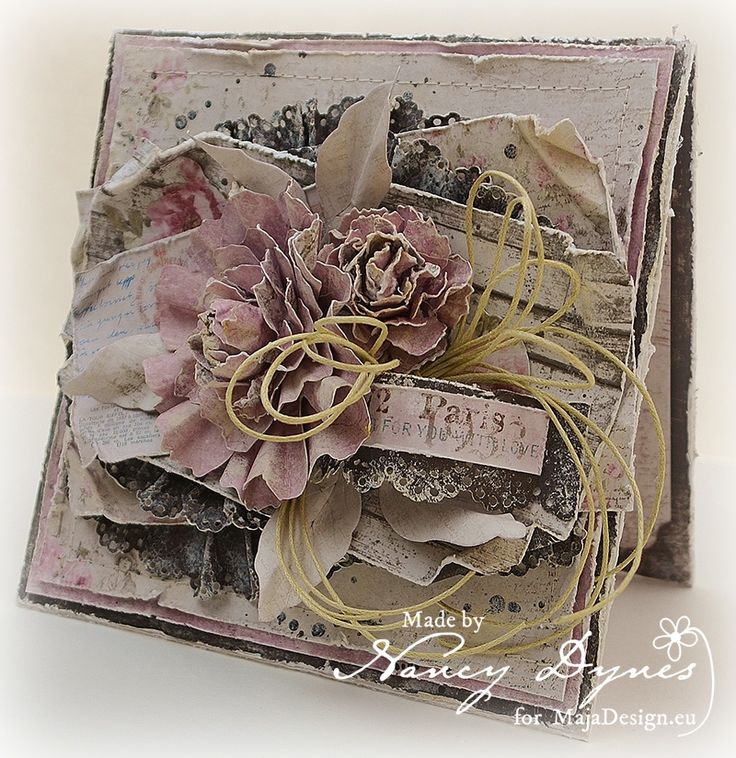 Tattered Treasures: Maja Design February Mood Board Challenge!