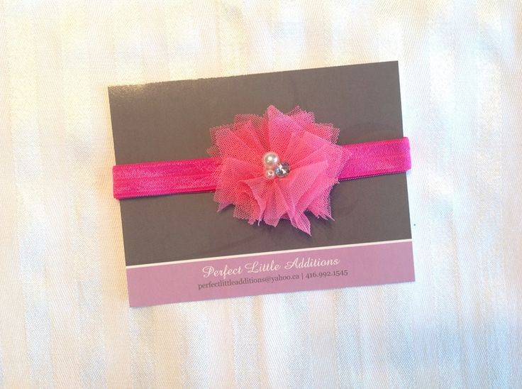 Hot Pink Elastic Headband. Cut, heat sealed, assembled & packaged in a smoke-free/pet-free home. Contact us for yours today! Facebook.com/perfectlittleadditions