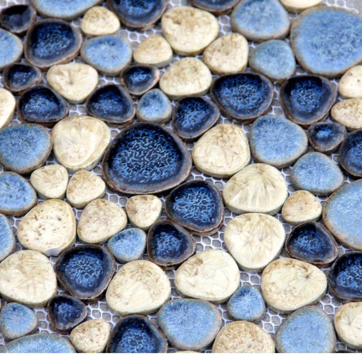 piedras de ceramica   Aliexpress.com: Comprar Estilo mediterráneo azul piedras de piedra ...