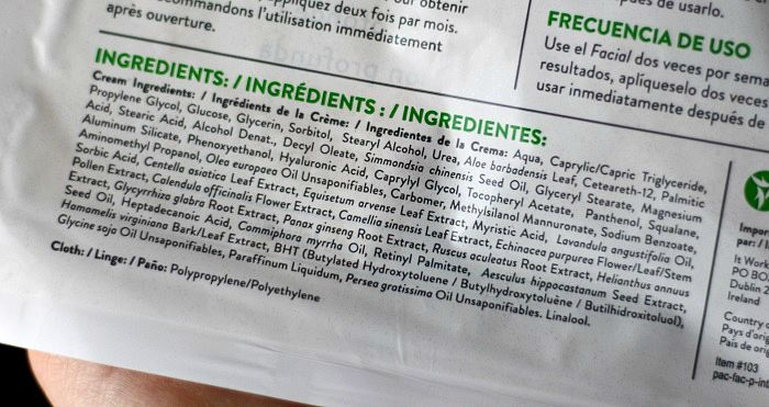 Facial Mask Ingredients
