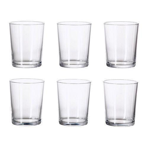 IKEA - SVALKA, Glas, Durch die schlichte, gerade, niedrige Form eignet sich das Glas bestens für kalte Getränke wie Cocktails ohne Eis usw.Durch seine Form mit der breiten Öffnung eignet sich das Glas auch zum Servieren von Desserts.Stapelbar - spart Platz im Schrank, wenn nicht in Gebrauch.