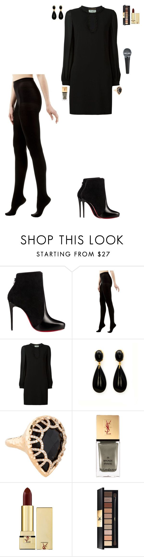 """18(UFC EVENT IN LAS VEGAS)"" by stylev ❤ liked on Polyvore featuring Christian Louboutin, Vim & Vigr and Yves Saint Laurent"