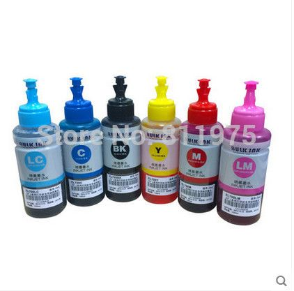 Promo Dye ink Based Non OEM 6 color Refill Ink Kit 70ml for Epson L800 L801. Click visit to read descriptions